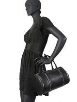 Leather Satchel Soft Vintage Lancaster Black 577-03-vue-porte
