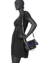 Crossbody Bag Romy Leather Mac douglas Blue romy MEDROM-M-vue-porte