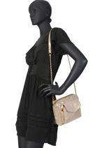 Crossbody Bag Naina Leather Pieces Beige naina 17087872-vue-porte