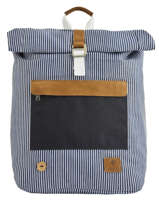 Backpack Tricolor Faguo Black stripes denim 20LU0101