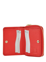 Compact Leather Wallet Crinkles Red 14287-vue-porte