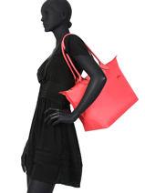 Longchamp Le pliage club Hobo bag Black-vue-porte
