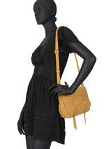Leather Crossbody Bag Vintage Mila louise Yellow vintage 3017VBS-vue-porte