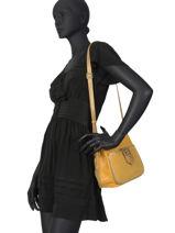 Leather Crossbody Bag Vintage Mila louise Yellow vintage 3317CVHG-vue-porte