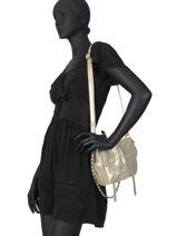 Leather Crossbody Bag Vintage Mila louise Beige vintage 3351X-vue-porte