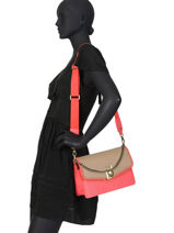 Crossbody Bag Creativa Liu jo Pink creativa NA0036A-vue-porte