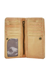 Wallet Leather Basilic pepper Yellow cow BCOW96-vue-porte