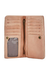Wallet Leather Basilic pepper Pink cow BCOW96-vue-porte
