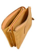 Leather Coin Purse Heritage Biba Yellow accessoires KA5-vue-porte