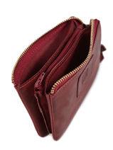 Leather Coin Purse Heritage Biba Red accessoires KA5-vue-porte