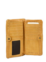 Leather Heritage Wallet Biba Yellow accessoires KA4-vue-porte