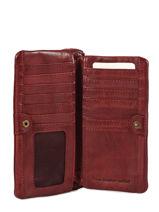 Leather Heritage Wallet Biba Red accessoires KA4-vue-porte