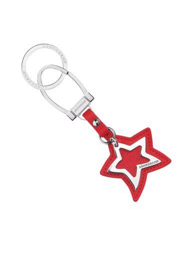 Longchamp Le pliage cuir Porte clés Rouge