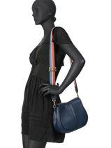 Leather Crossbody Bag Helena Round Gianni chiarini Blue helena round BS6036-vue-porte