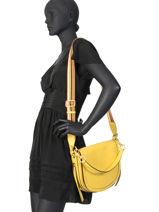 Leather Crossbody Bag Iris Gianni chiarini Green iris BS7170-vue-porte