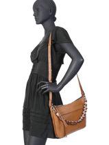Leather Crossbody Bag Duna Gianni chiarini Brown duna BS7600-vue-porte