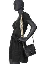 Leather Crossbody Bag Elettra Gianni chiarini Black elettra - 00BS7886-vue-porte