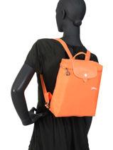 Longchamp Le pliage club Backpack Black-vue-porte
