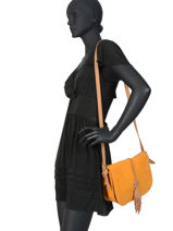 Crossbody Bag Tornade Leather Etrier Orange tornade ETOR01-vue-porte