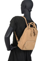 Leather Backpack Tornade Etrier Brown tornade ETOR11-vue-porte