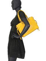 Sac Porté épaule Couture Miniprix Jaune couture DQ8562-1-vue-porte