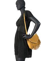 Shoulder Bag Arizona Leather Etrier Black arizona EARI01-vue-porte