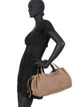 Leather Tote Bag Biarritz Gerard darel Black biarritz DMS38451-vue-porte