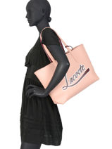 Sac Cabas Anna Animation Lacoste Rose anna animation NF3089AS-vue-porte