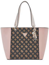 Shoulder Bag Kamryn Logo Print Guess Brown kamryn SE669123