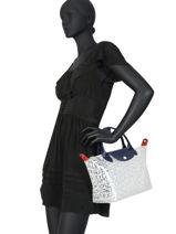 Longchamp Le pliage lgp transparent Handbag White-vue-porte