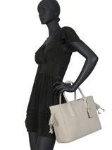 Longchamp Pénélope Handbag Beige-vue-porte