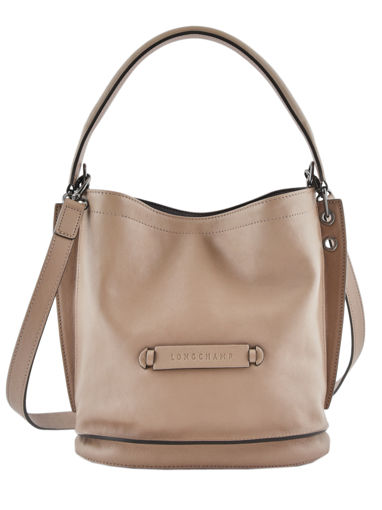 Longchamp Sacs porté travers Beige
