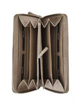 Wallet Leather Burkely Gray croco cody 842529-vue-porte