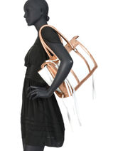 Shoulder Bag A4 Vintage Leather Paul marius White vintage RIVDRO-M-vue-porte
