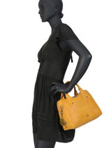 Handbag Retro Lulu castagnette Yellow retro MURPHY-vue-porte