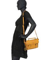 Crossbody Bag Retro Lulu castagnette Yellow retro LOICE-R-vue-porte