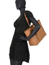 Leather Shoulder Bag Ninon Lancel ninon A10627-vue-porte