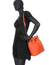 Sac Seau M Ninon Cuir Lancel Orange ninon A10650-vue-porte