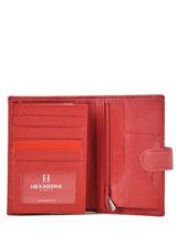 Portefeuille Cuir Hexagona Rouge confort 467282-vue-porte