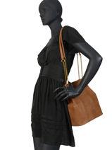 Sac Shopping Alizee Cuir Nat et nin Marron vintage ALIZEE-vue-porte