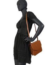 Leather Hermione Crossbody Bag Nat et nin Silver vintage HERMIONE-vue-porte