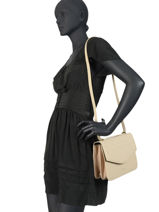 Leather Hermione Crossbody Bag Nat et nin White croc HERMIONE-vue-porte