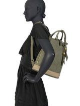 Backpack Woomen Green anemone WANE02-vue-porte