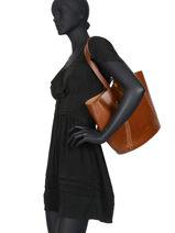 Shoulder Bag Vegetal Leather Nat et nin Brown vegetal CALVI-vue-porte