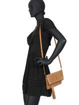 Raffia Crossbody Bag Majorca Torrow Brown majorque TMAJ04-vue-porte
