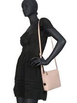 Crossbody Bag Leather Crinkles Beige 80897-vue-porte