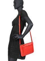 Crossbody Bag Caviar Leather Crinkles Red 80978-vue-porte
