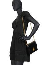 Leather Crossbody Bag Hutton Coach Black hutton 88342-vue-porte