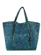 Le Cabas Moyen+ Raphia Paillettes Vanessa bruno Bleu cabas raphia 65V40414