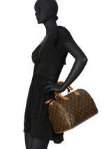 Preloved Louis Vuitton Handbag Speedy 30 Monogram Brand connection Brown louis vuitton 274-vue-porte